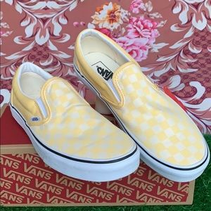 VANS CLASSIC SLIP ON CHECKERBOARD Gldnhztrwht MEN'